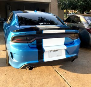 Dodge charger viper style stripe wide srt hellcat scat pack rear