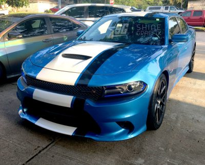 Dodge charger viper style stripe wide srt hellcat scat pack side