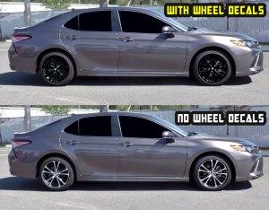 2019 camry SE Black wheel decals