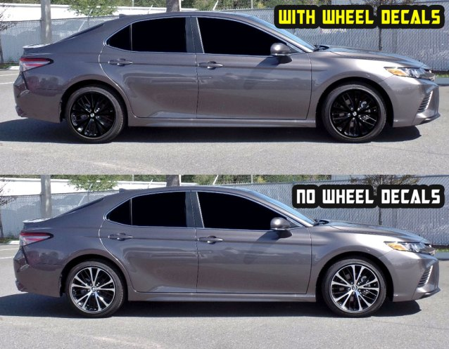 2019 camry SE Black wheel decals
