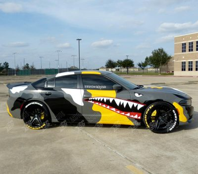 dodge charger camouflege wrap Right side