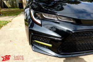2020 Corolla SE XSE DRL tint overlays black sedan