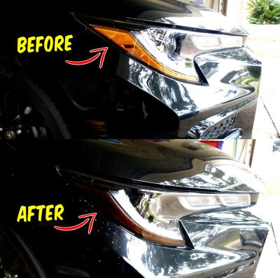 2020 Toyota Corolla Headlights Amber delete Decals tint before and after