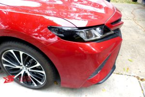 2020 Toyota Camry black eyelids only & amber delete inserts side Headlights