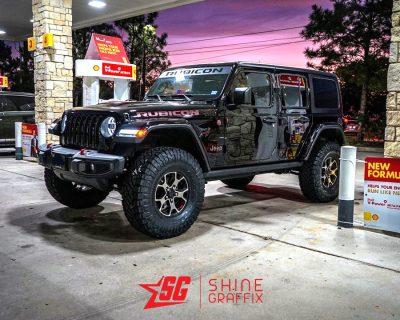 Jeep Rubicon WINDSHIELD Banner Matte Black