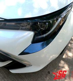 2020 corolla hatchback front bumper inserts Black Driver side