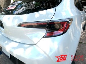 2020 corolla hatchback Rear Tail Lights tint black inserts Passenger side