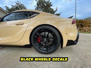 Mk5 Supra a90 black wheel decals mods