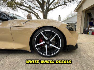 Mk5 Supra a90 white wheel decals mods