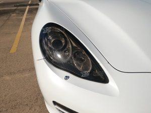 Porsche Panamera Mods tint 970 G1 Head Lights Tint Passenger Side