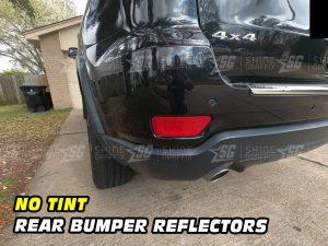 Jeep Grand Cherokee Rear Bumper Deflector no Tint inserts