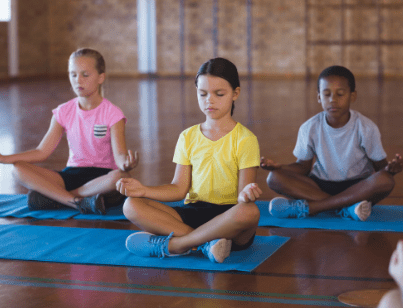 Kids Yoga meditation