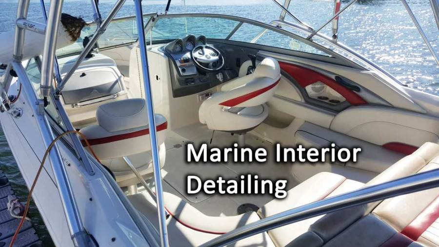 boat interior detailing upholstery cleaning