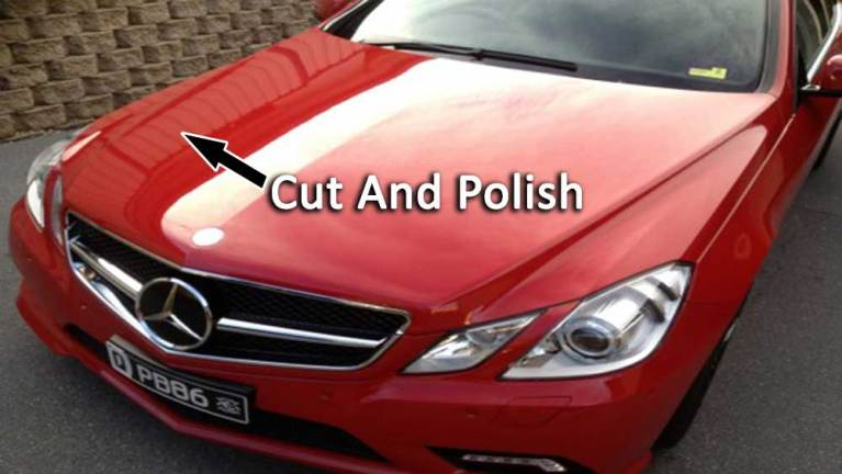 car has been cut and polish
