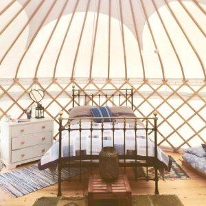 Cornwall yoga retreat UK yurt glamping
