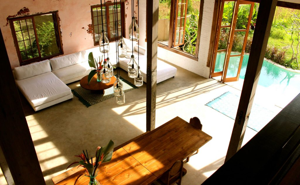Yoga Retreat Bali Pool and Living Room