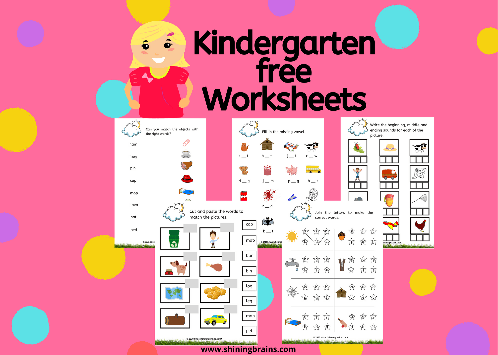 Kindergarten Free Worksheets
