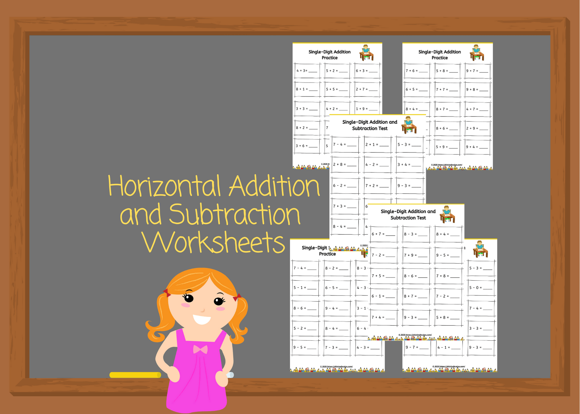 Kindergarten Addition And Subtraction Worksheets