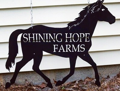 Shining Hope Farms Sign