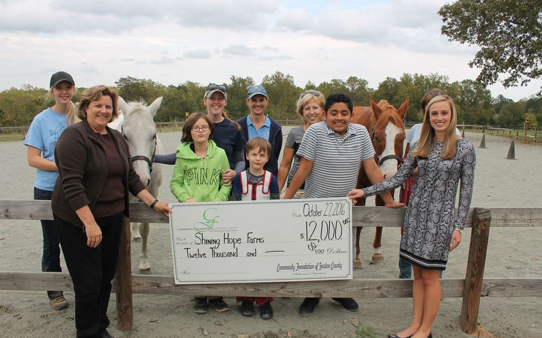 Shining Hope Farms receives grant from Community Foundation of Gaston County