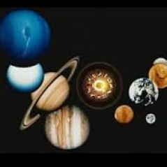 A photo of the planets of our solar system.