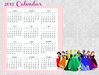 2013 Printable Disney Calendars for Your Kids