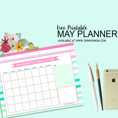 Free Monthly Planner for May!