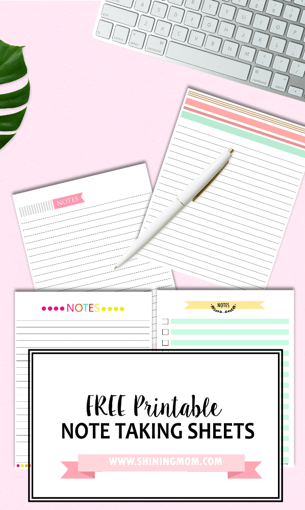 Happy Freebie Monday: Note Taking Sheets