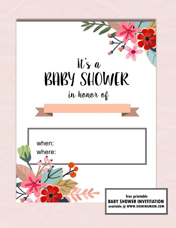 Free Baby Shower Invite For Girls