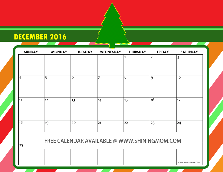 Calendar Design December : Free december calendars christmas themed designs