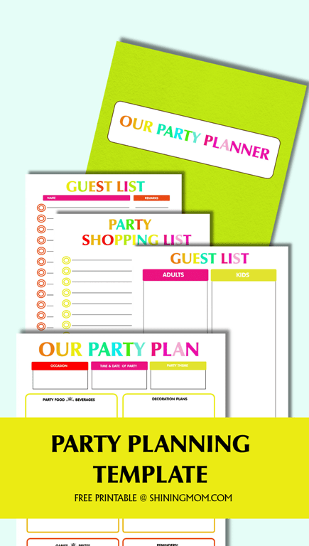 party plan template