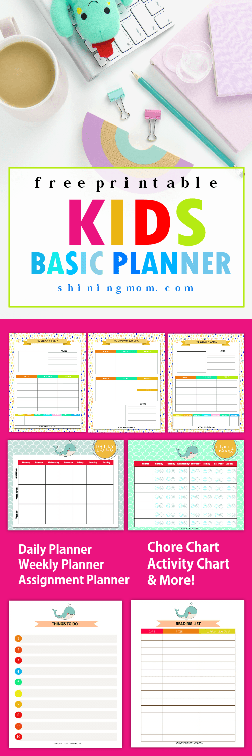 printable weekly planner for students