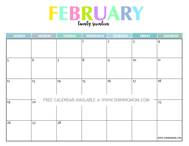 Your Free 2017 Printable Calendar: Fun and Colorful!