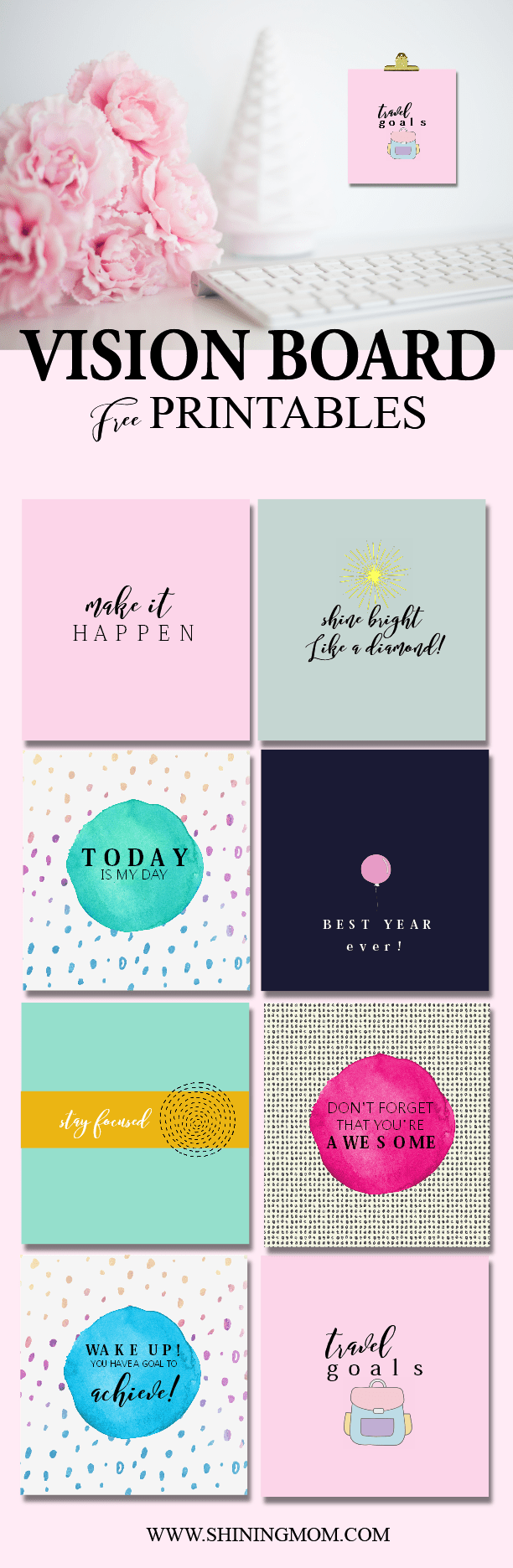 Vision board free printables for Vision board templates free