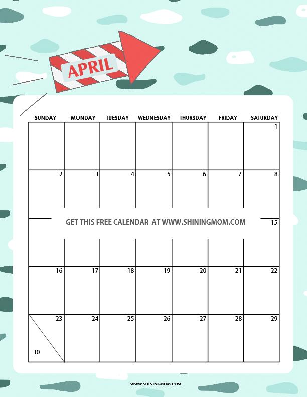 Printable Calendar April 2017 pretty free printable calendars for april 2017!