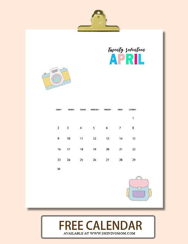 free calendars to print 2017