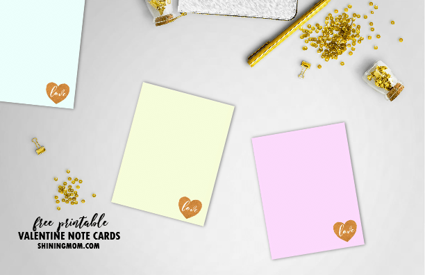 10 Free Printable Love Notes for Valentine's Day: Pink and Pretty!
