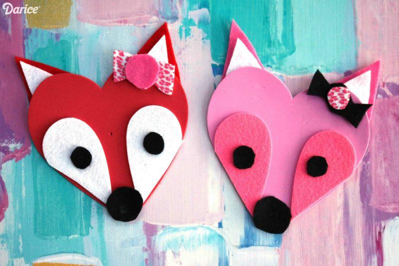 Fox Valentine Crafts For Kids At Blog Darice · U201c