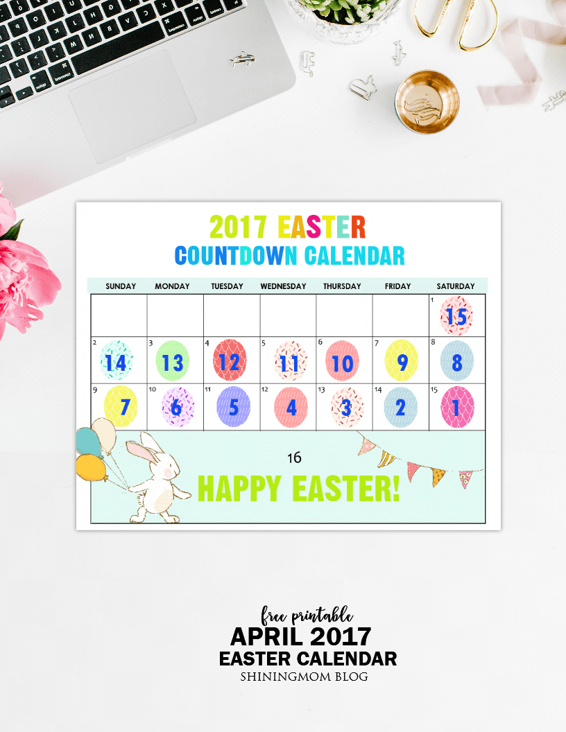 Calendar April Easter : Free printable fun easter countdown calendar