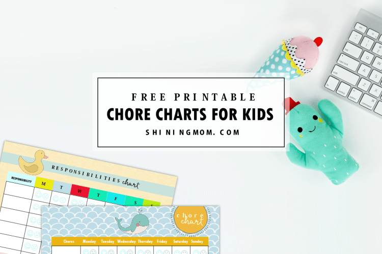 Free Printable Chore Charts: 8 Absolutely Cute Designs!