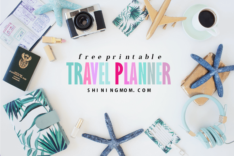 free travel planner printables
