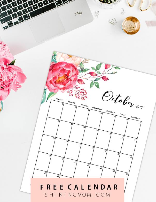 October Calendar Design : Free printable october calendar awesome designs