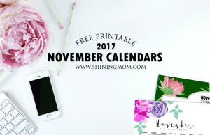 Free Printable November 2017 Calendar: 12 Beautiful Designs!