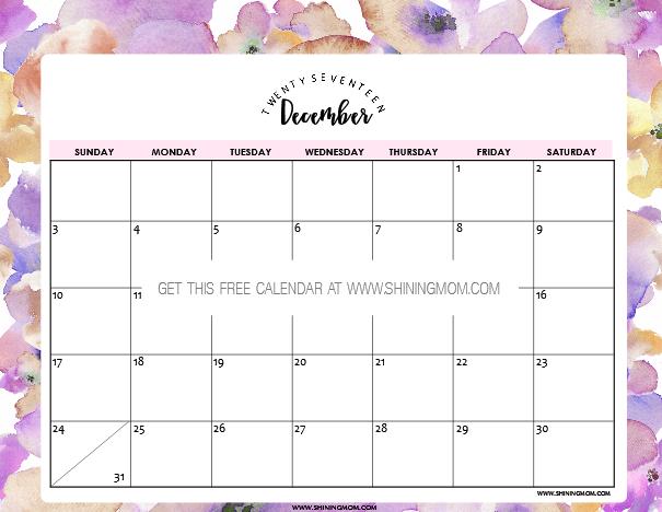 calendar printout