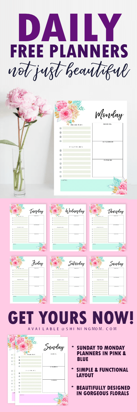 free printable daily schedule template