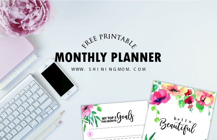 Your Beautiful Monthly Planner + 12 More Printable Freebies!