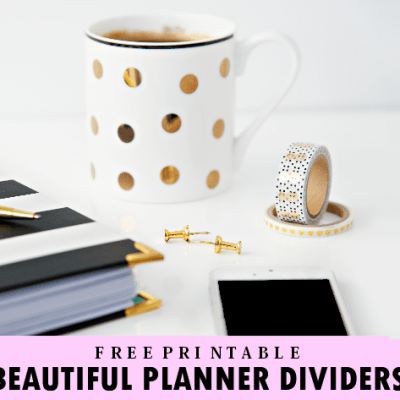 Free Printable Binder Dividers for All The Months of the Year!