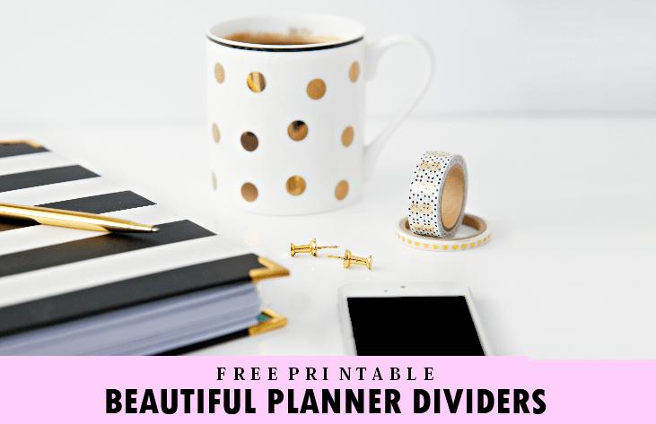 free printable planner divider