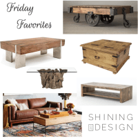 Friday Favorites ♥ Rustic Coffee Tables