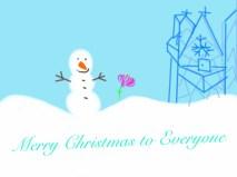 Christmas Card-Frozen 3